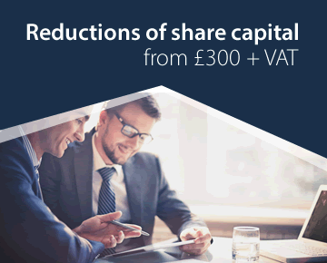 Reductions of share capital from £300 + VAT