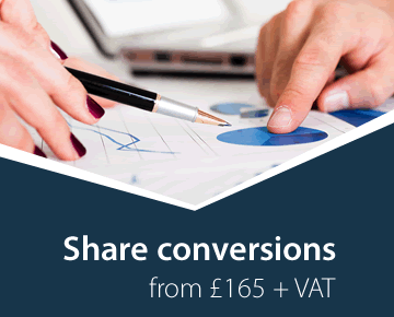 Share conversions from £165 + VAT