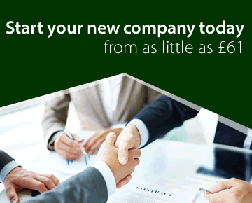 Start your new company today from as little as £14 + VAT
