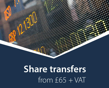 Share transfers from £65 + VAT