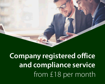 Company registered office and compliance service from £18 per month